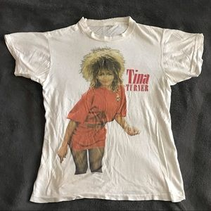 1985 vintage Tina Turner tour t-shirt